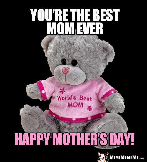 Teddy Bear Saying: You're the best Mom ever. Happy Mother's Day!