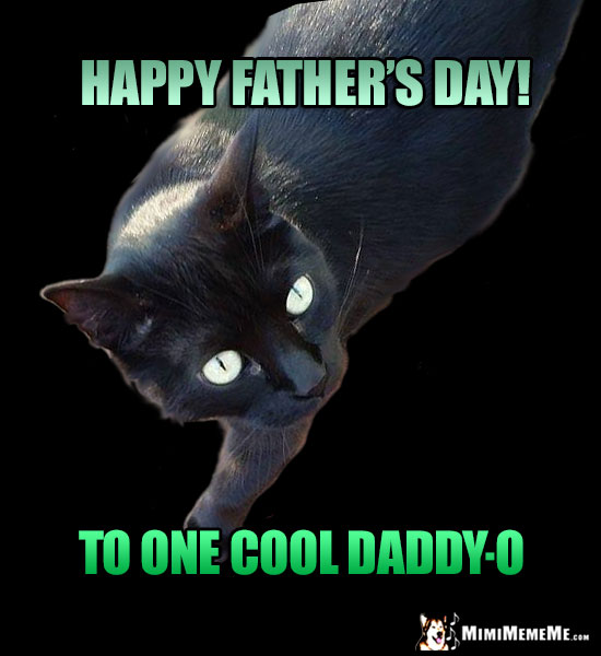 Black Cat Says: Happy Father's Day! To One Cool Daddy-O